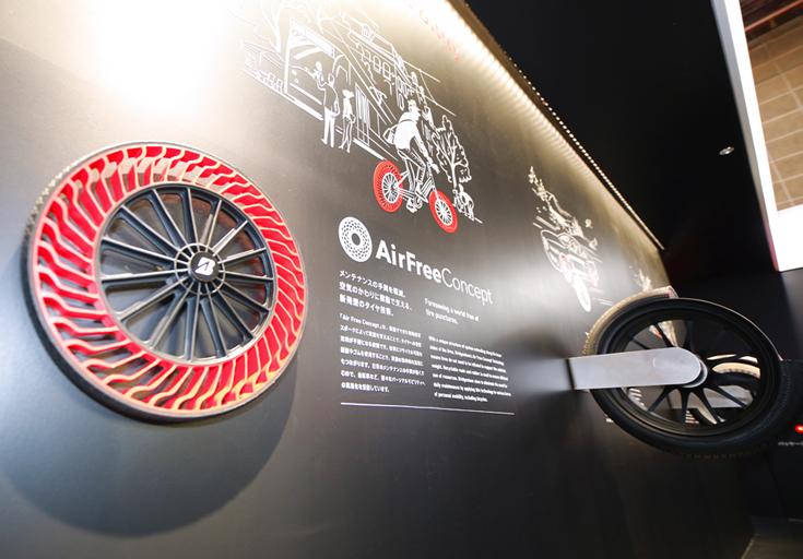 東京モーターショー2017ブリヂストンエアフリータイヤ