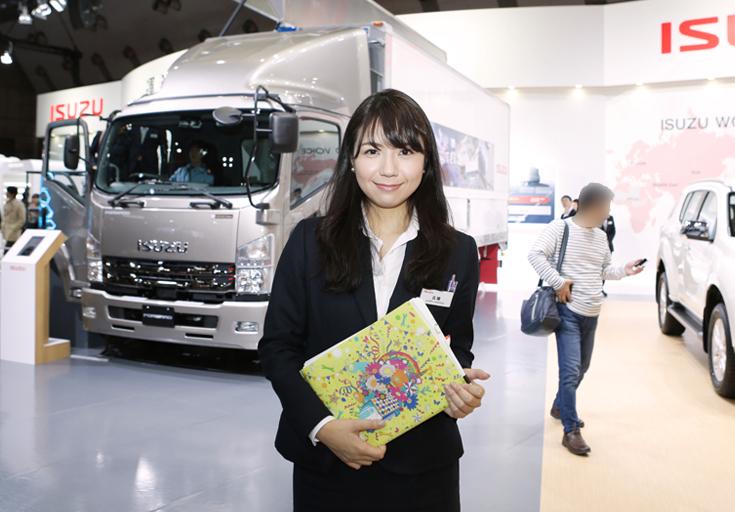 東京モーターショー2017いすゞ自動車広報工藤さん