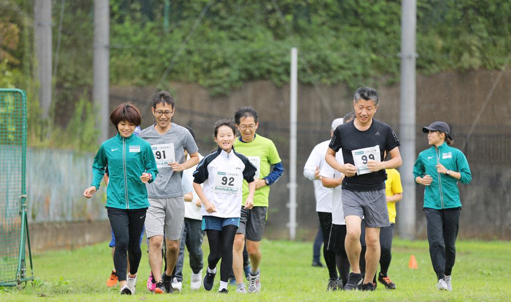 三井住友海上女子陸上競技部ランニング教室 Smile&Run!